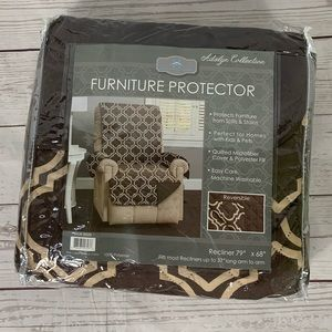 NWT Recliner Protector Cover Reversible Brown